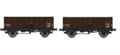REE MODELE WB-137 Coffret 2 wagons tombereau OCEM 29, PLM  Type B Tôlé