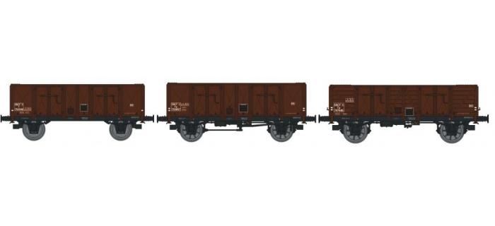 REE MODELE WB-141 Coffret 3 wagons tombereau OCEM 29