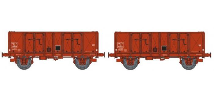 REE MODELE WB-142 Coffret 2 wagons Tombereau OCEM 29,  Type B Tôlé