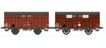 Train électrique : REE WB-288 - Set de 2 wagons Couvert OCEM 19 Ep.III A