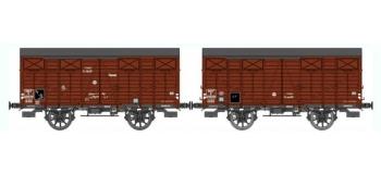 Train électrique : REE WB-290 - Set de 2 wagons Couvert OCEM 19 Ep.III B