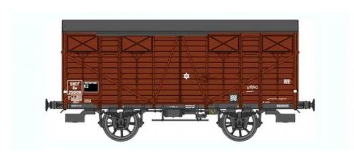 Train électrique :  REE WB-292 - Wagon Couvert OCEM 19 Ep.III B