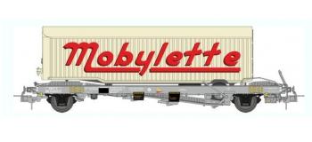 train électrique : REE WB-349 - Wagon KANGOUROU Ep.III + Remorque