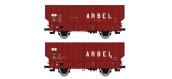 Modélisme ferroviaire : REE WB-366 - de 2 Wagons Coke ARBEL 3 Portes Ep.III