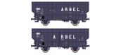 Modélisme ferroviaire : W-003-E-01 - ARBEL Boîte à Tampon, Caisse ronde 'ARBEL UPWS' Ep.IV  W-003-D-03 - ARBEL Boîte à Rouleau, Caisse pans coupés 'ARBEL TRANORD' Ep.IV