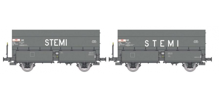 Modélisme ferroviaire : REE WB-378 - Set de 2 Wagons Coke MH45 Ep.IV