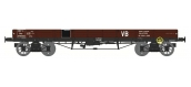 Modélisme ferroviaire : REE WB-395 - Wagon PLAT TP à 6 ridelles Ep.III SNCF VB