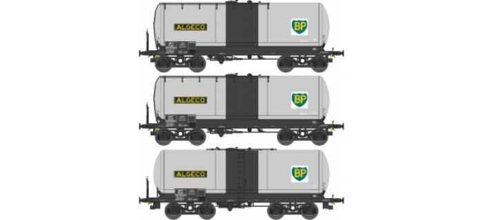 Modélisme ferroviaire : REE WB 433 - Coffret de 3 Wagons Citernes ANF Ep.V ''ALGECO - BP'' SNCF