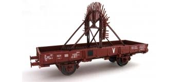 REE  WB133 - Wagon plat OCEM 29, brise glace SIOUX