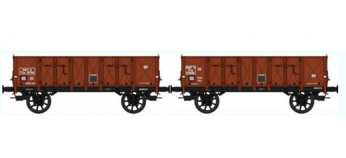 REE WB-283 - Set de 2 Wagons TOMBEREAU Om