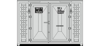 REE XB-032 - SET de 3 Containers CADRE 72 (1 bailly et 2 gris)
