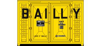 Train électrique : REE XB-032 - SET de 3 Containers CADRE 72 (1 bailly et 2 gris)