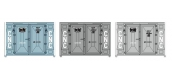 Train électrique : REE XB-033 - Set de 3 Containers CADRE 72 (1 bleu et 2 gris CNC)