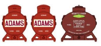 Train électrique : REE XB-038 - Set de 3 Containers CITERNE (2 Adams et 1 Simotra)