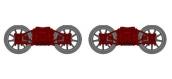 Train électrique :  XB109-E-02 - Set de 2 Bogies Diamond TP Bruns, Roues à Rayons