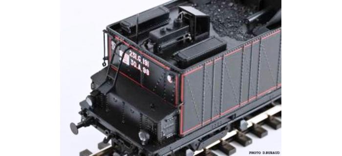REE Modeles MB - 003S - Locomotive à Vapeur 231 ex-PLM Epoque III, DCC Sonorisée - Fumée Pulsée