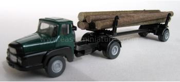 SAI 835 - Camion Unic avec remorque porte-grumes