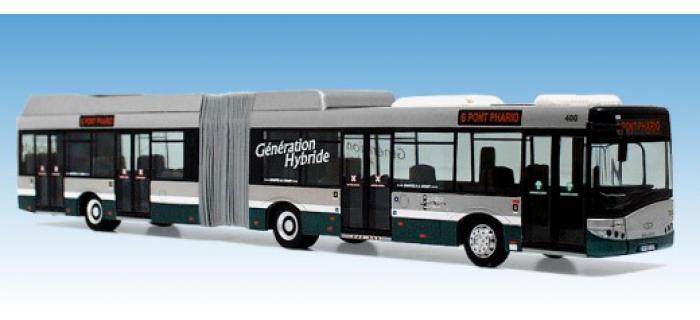 vkmodelle 0870 Bus Solaris Urbino 18 Hybride Strasbourg pour modelisme ferroviaire