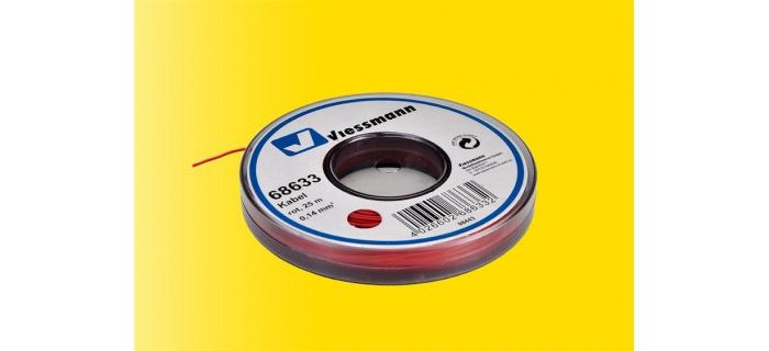 Cable pour modélisme ferroviaire : VIESSMANN VIE68633 - Fil électrique rouge