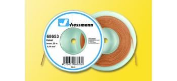 Cable pour modélisme ferroviaire : VIESSMANN VIE68653 - Fil électrique brun