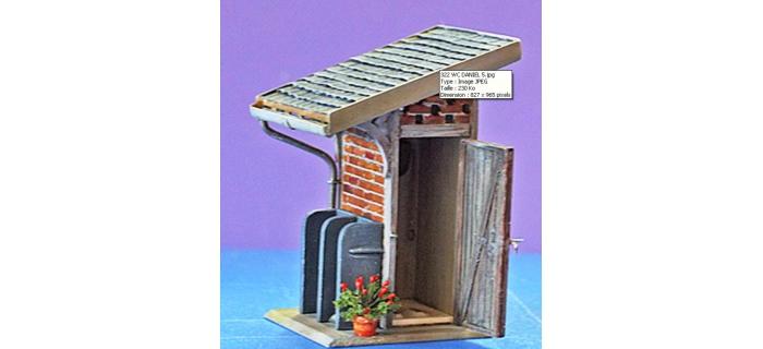 ABE322 - WC de jardin ou petite gare - ABE