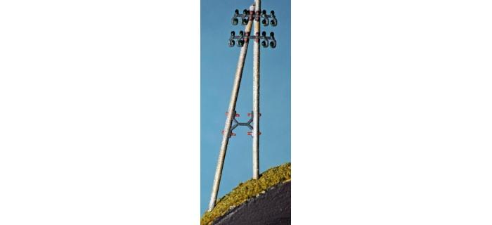 ABE399 - Poteau télégraphique ( jambe de force gauche ) 2 p./ kit - ABE