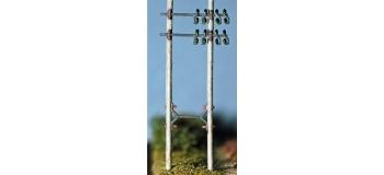 ABE400 - Poteau télégraphique ( jambe de force déportée) 2 p./ kit - ABE