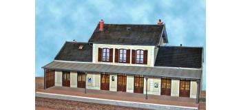 ABE0 360 - gare 7 portes avec marquise et aménagements - ABE