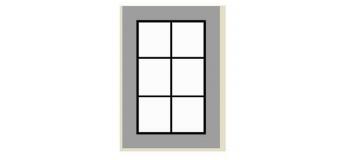 Modélisme ferroviaire : ABE284 - Fenêtre 18 x 11 mm ( 2x2 pièces)