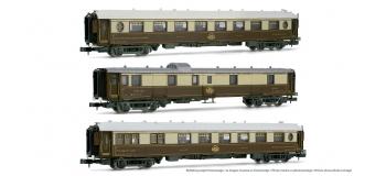 HN4109 - Coffret de 3 voitures CIWL, livrée brun et crème - Arnold
