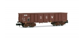 HN6193 - Wagon tombereau SNCF à bogies Eaos SGW - Arnold
