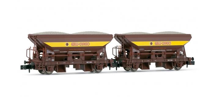 HN6123 - Set de 2 wagons tre?mies Fcs EBW - Arnold