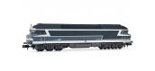 Modélisme ferroviaire : ARNOLD HN2381 - Locomotive diesel CC 72065 Bleu logo Casquette Ep.V SNCF