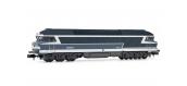 Modélisme ferroviaire : ARNOLD HN2382 - Locomotive diesel CC 72054 bleu logo Nouille EpIV-V SNCF