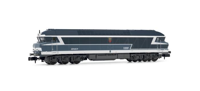 """Modélisme ferroviaire : ARNOLD HN2384 - Locomotive Diesel-électrique CC72031, livrée bleu, logo """"Tallon"""", SNCF époque V"""