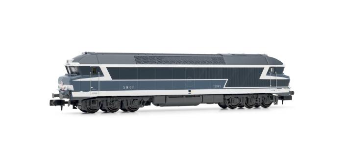 Modélisme ferroviaire : ARNOLD HN2386 - Locomotive Diesel-électrique CC 72045, livrée bleu à plaques.
