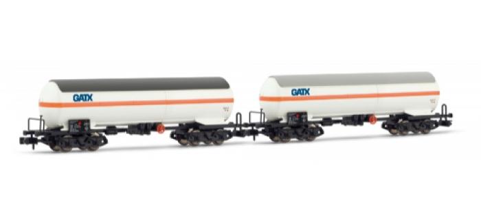 Set de 2 wagons citernes avec pare-soleil GATX