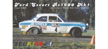Maquettes : BELKITS BEL007 - Ford Escort RS1600 RAC 1972