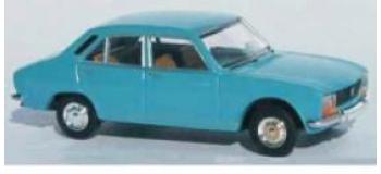 Train électrique : SAI 2083 - Peugeot 504, Bleu Canard