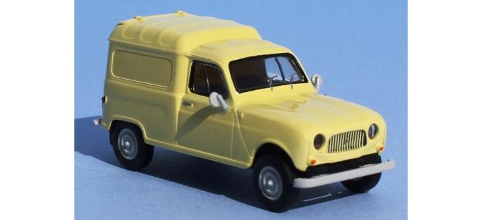 Train électrique : SAI 2403 - Renault 4 Fourgonnette jaune pastel