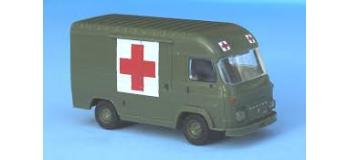 Modélisme ferroviaire : SAI 2909 - Fourgon Saviem SG2 Ambulance militaire