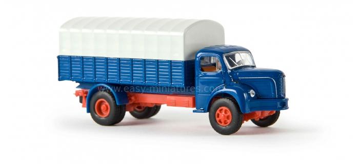 SAI 2623 / BRE 85311 - Berliet GLR 8 baché, bleu / gris - Brekina