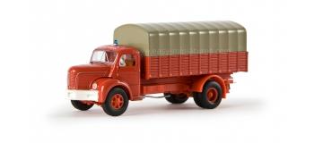SAI 2624 / BRE 85312 - Camion baché Berliet GLR 8, Sapeurs Pompiers - Brekina