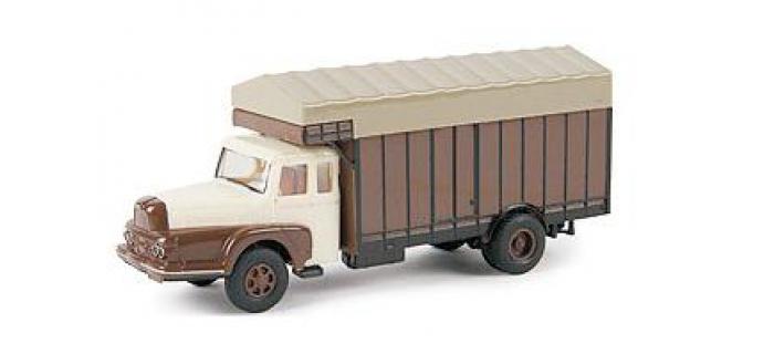 SAI 2962 - Camion Maraîcher Unic ZU 122 Izoard, ivoire et brun - Brekina