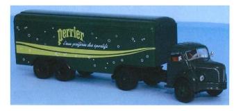 SAI 2557 / BRE85415 - Semi-remorque Berliet TLR 8a, Perrier - Brekina