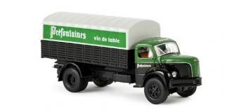 SAI 2627 / BRE85319 - Camion Tolé Berliet GLR 8 bâché PREFONTAINES - Brekina