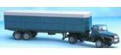 Train électrique : SAI 0833 - Tracteur UNIC avec remorque bâchée