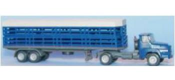 Train électrique : SAI 0834 - Tracteur UNIC avec remorque à clairevoie