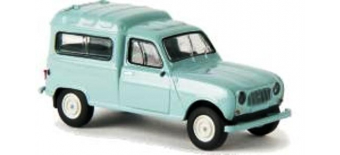 Train électrique : SAI 2415.1 / BRE 14705 - Renault 4 Fourgonnette 1961, vitrée vert turquoise