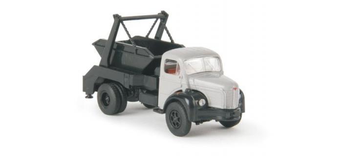 SAI 2665.1 / BREKINA 85391 Camion Berliet GLR8 benne à déchets gris / noir